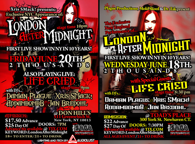 London After Midnight show NYC 6-20-08